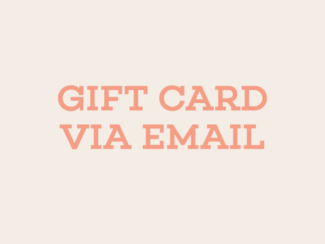 Gift Card via Email